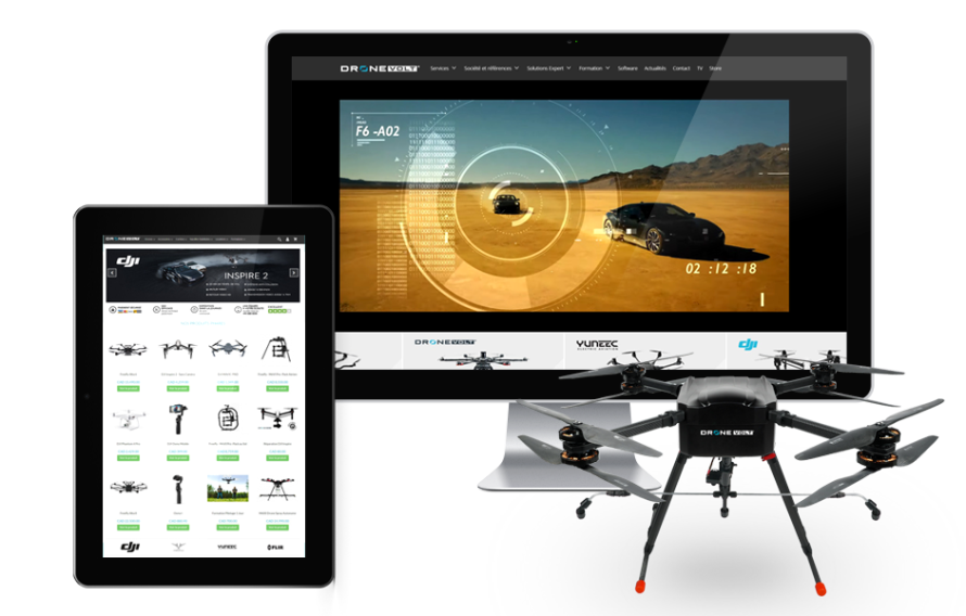 DroneVolt Canada, développement Web, store