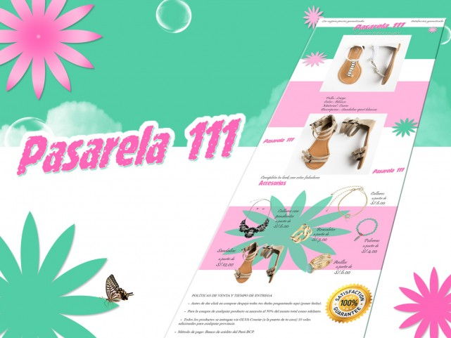 Conception de bulletin pour Pasarela 111