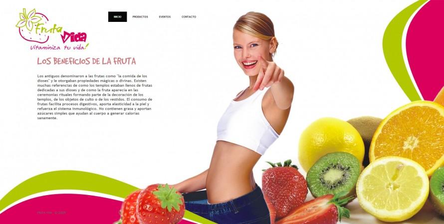 Conception site Web Fruta Vida