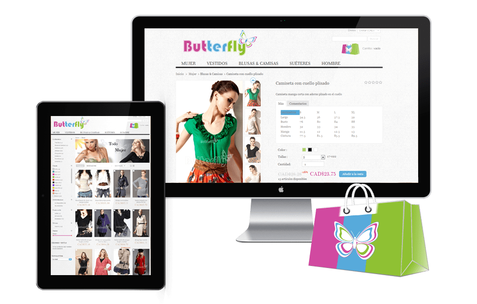 Boutique Prestashop  Butterfly