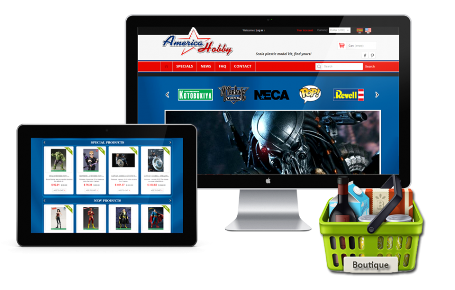 Boutique Prestashop America Hobby