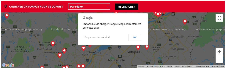 carte Google Maps - Google Cloud Platfom